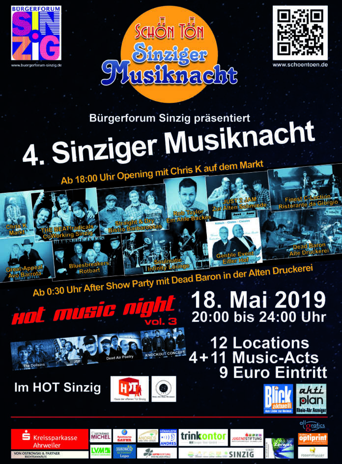 Sinziger Musiknacht Flyer Download