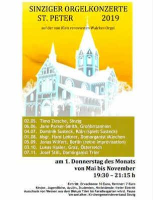 Sinziger Orgelkonzerte @ St. Peter Sinzig | Sinzig | Rheinland-Pfalz | Deutschland