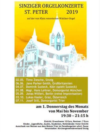 Sinziger Orgelkonzerte