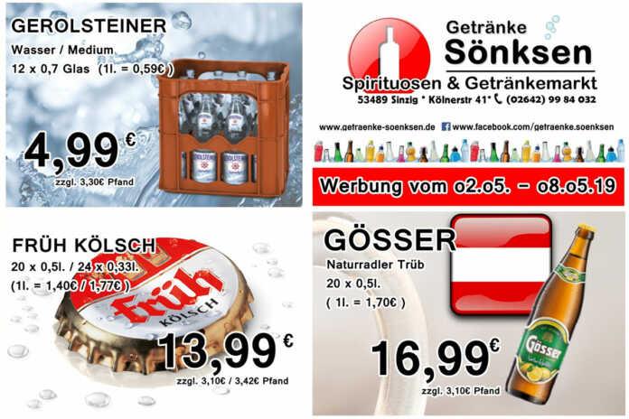 Angebote bei Getränke Sönksen KW 18/19