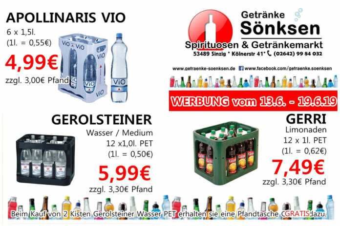 Angebote bei Getränke Sönksen KW 23/24