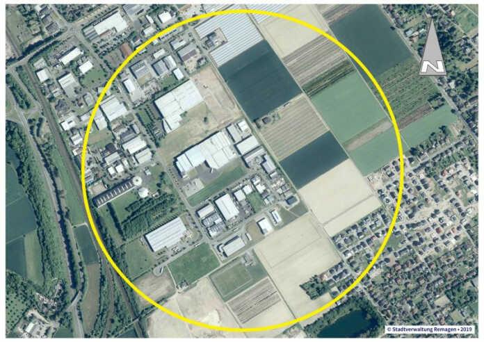 Bombenfund im Gewerbepark Remagen Süd