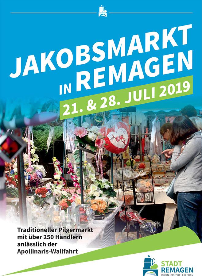 Traditioneller Jakobsmarkt am 21. und 28. Juli in Remagen