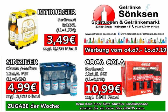 Angebote bei Getränke Sönksen KW 27/28