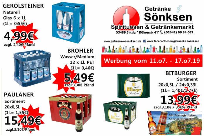 Angebote bei Getränke Sönksen KW 28/29