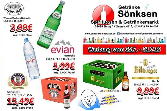 Angebote bei Getränke Sönksen KW 30/31