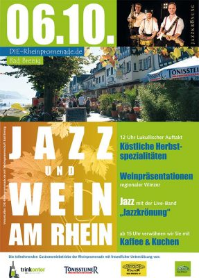 Jazz & Wein am Rhein @ Rheinufer Bad Breisig