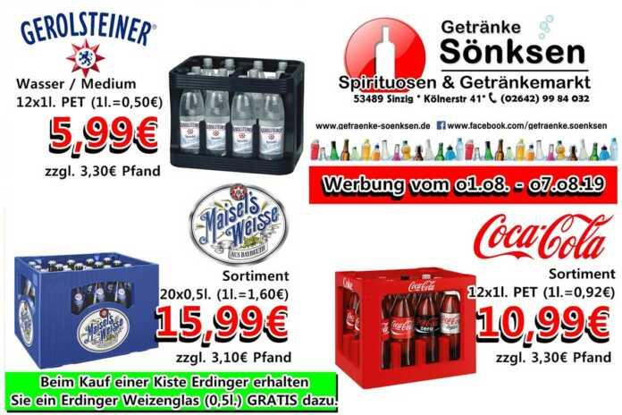 Angebote bei Getränke Sönksen KW 31/32