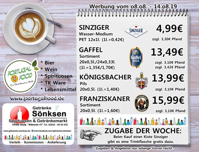 Angebote bei Getränke Sönksen KW 32/33