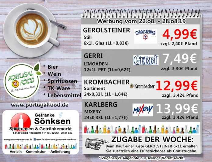 Angebote bei Getränke Sönksen KW 34/35
