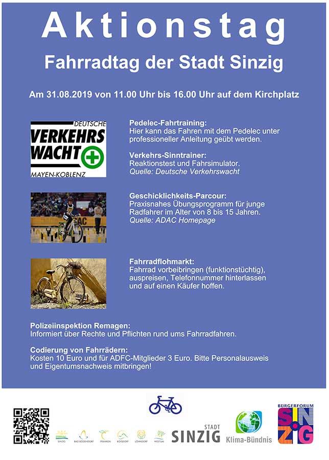 Fahrradtag der Stadt Sinzig am 31. August