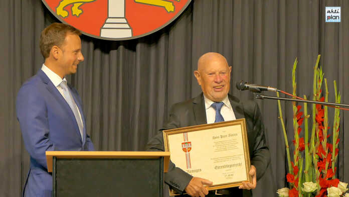 Hans Peter Kürten wird Ehrenbürger von Remagen