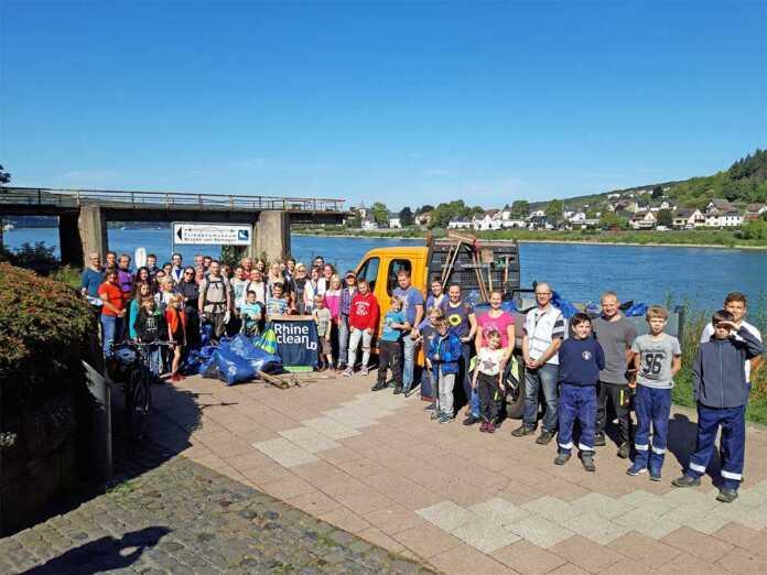 Große Unterstützung beim RhineCleanUp in Remagen und Kripp