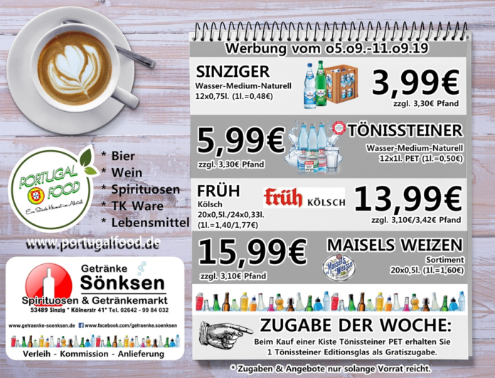Angebote bei Getränke Sönksen KW 36/37