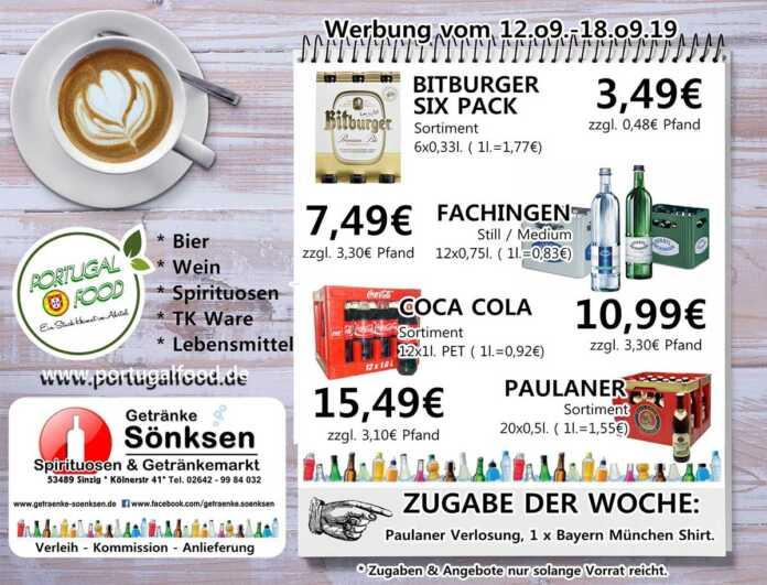 Angebote bei Getränke Sönksen KW 37/38