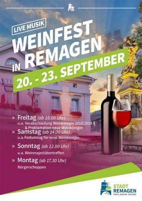70. Weinfest in der Römerstadt Remagen @ Marktplatz Remagen | Remagen | Rheinland-Pfalz | Deutschland