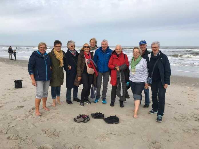 Nordic Walking Gruppe des Ski-Clubs Remagen auf Norderney
