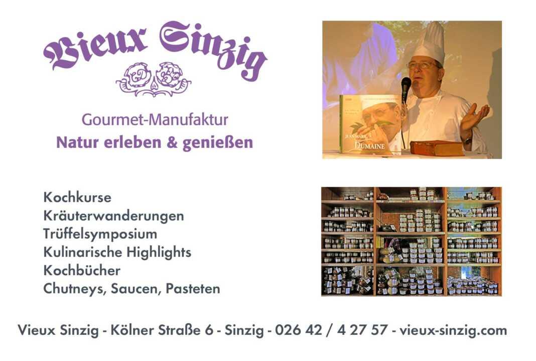 Vieux Sinzig - Kulinarische Vielfalt auch zum selber kochen