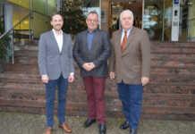 Ernst und Ingendahl zu Besuch im Krankenhaus in Remagen