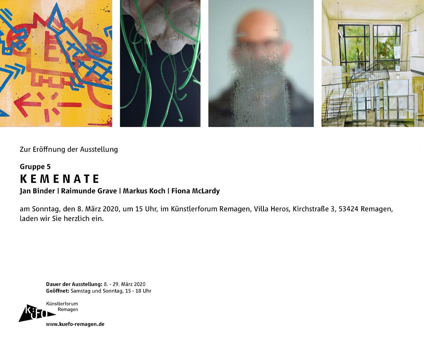 """Gruppe 5 zeigt: Ausstellung """"Kemenate"""""""