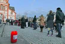 Mahnwache für die Opfer von Hanau