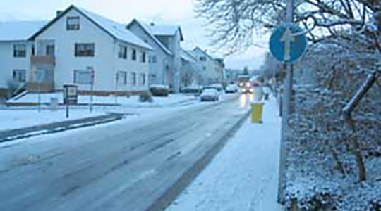 Wintereinbruch in der Region