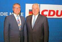 CDU Abgeordnete Horst Gies und Guido Ernst