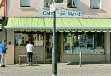 Café am Markt Außenschalter geöffnet