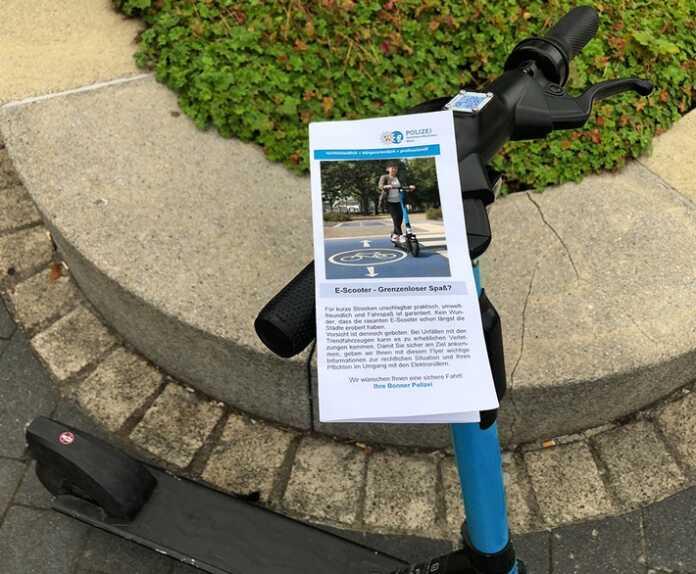 Ein Jahr E-Scooter in Bonn - Polizei zieht Bilanz