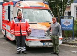 Sinziger Mineralbrunnen spendet für Notfall-Beatmungsgerät
