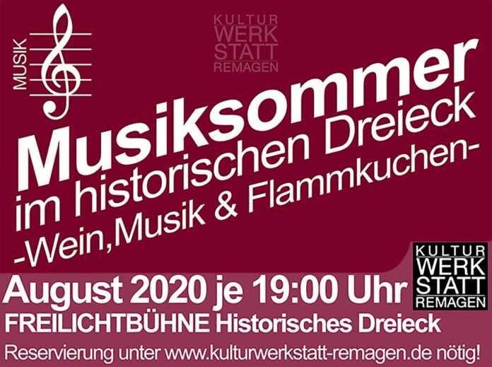 """Musiksommer im """"Historischen Dreieck"""" an der """"Kulturwerkstatt"""""""