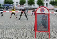 Hip-Hop Tanz Workshop in der Regenlücke auf dem Kirchplatz