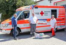 Behelfs-Mundmasken-Gruppe Sinzig Rhein-Ahr spendet für DRK-Notfall-Beatmungsgerät