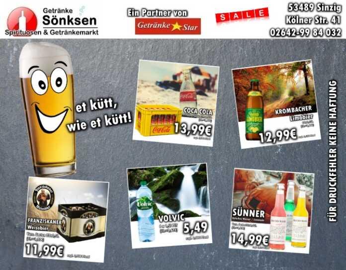 Getränke Sönksen Angebot vom 8.10. - 14.10.2020