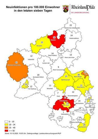 Corona Karte RLP
