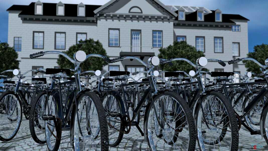 Fahrräder vor dem Sinziger Rathaus