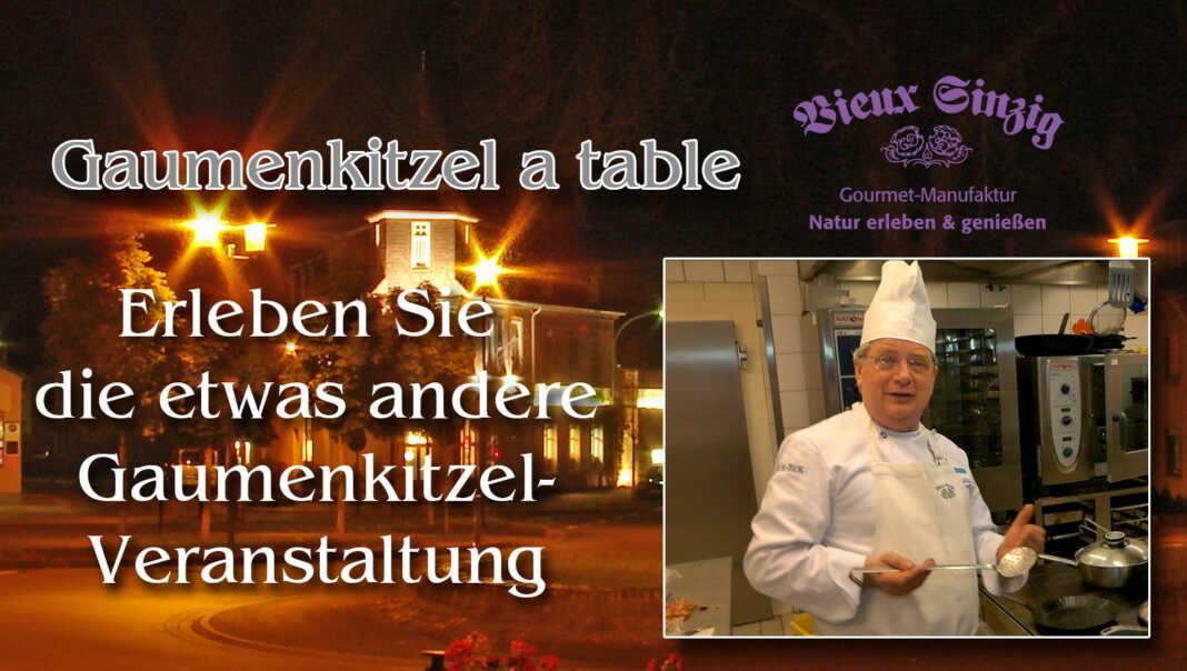 Gaumenkitzel a table