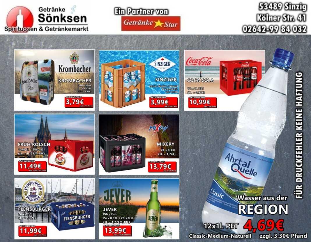 Getränke Sönksen Angebot vom 19.11. - 25.11.2020