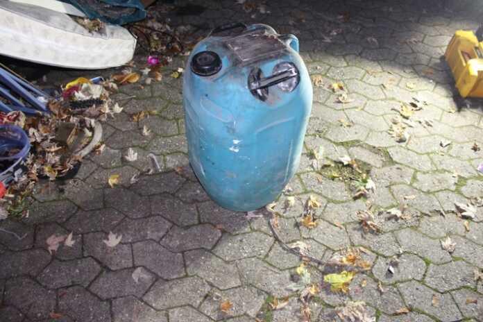 Illegale Entsorgung eines Kanisters mit 50 Liter Ammoniak am 06.11.2020 in Remagen - Zeugen gesucht