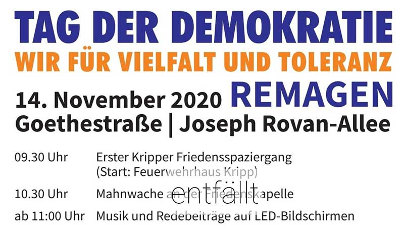 Tag der Demokratie am 14.11. in Remagen digital