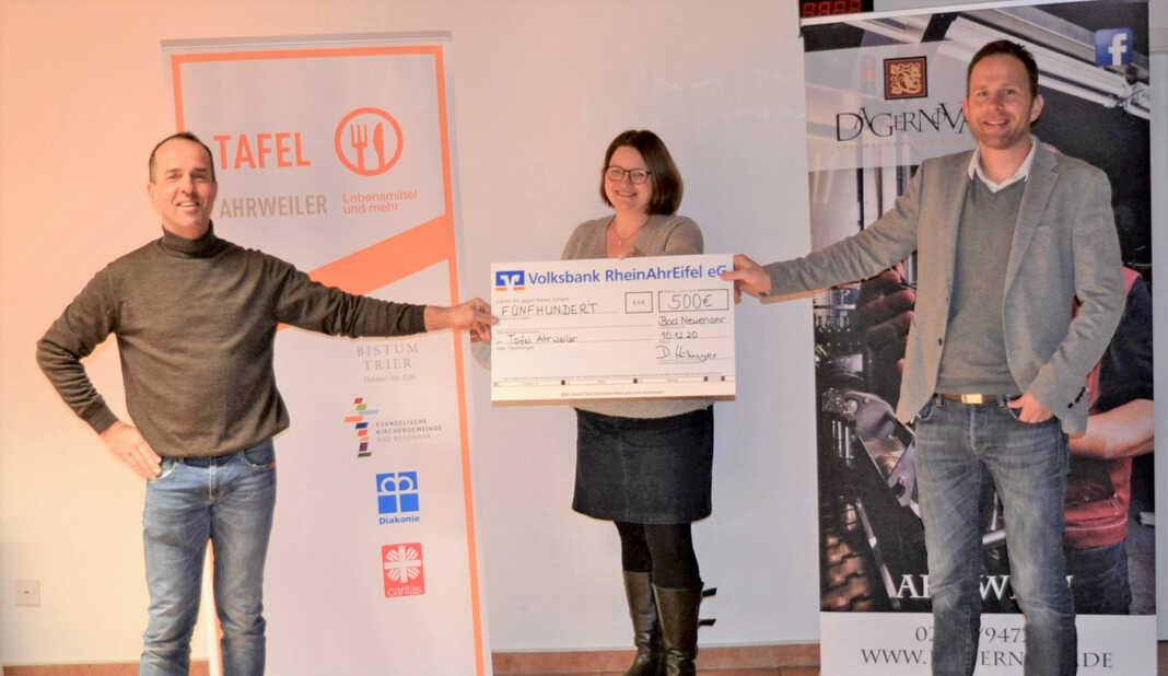 """500 Euro für die """"Tafel Ahrweiler"""" erarbeitet"""