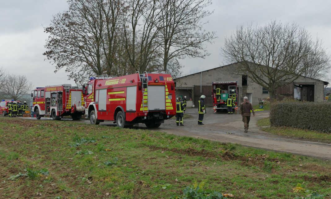 Großbrand einer Scheune in Sinzig-Löhndorf