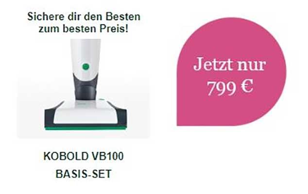 VB100 Akku-Staubsauger Basis-Set AKTION