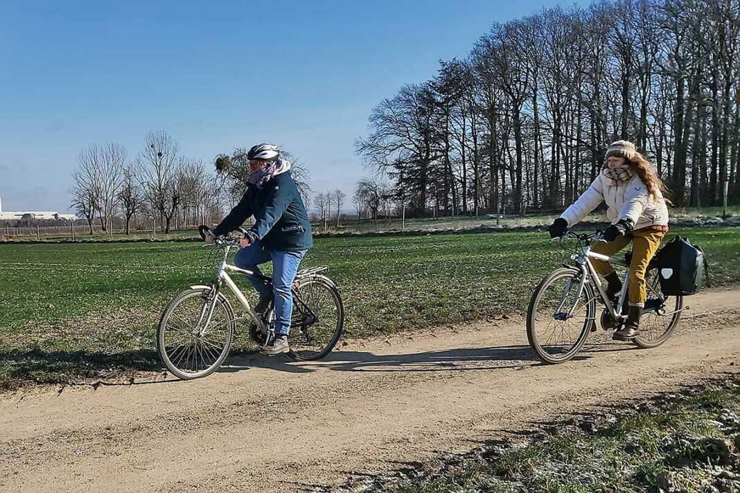 Grüne Radfahrer