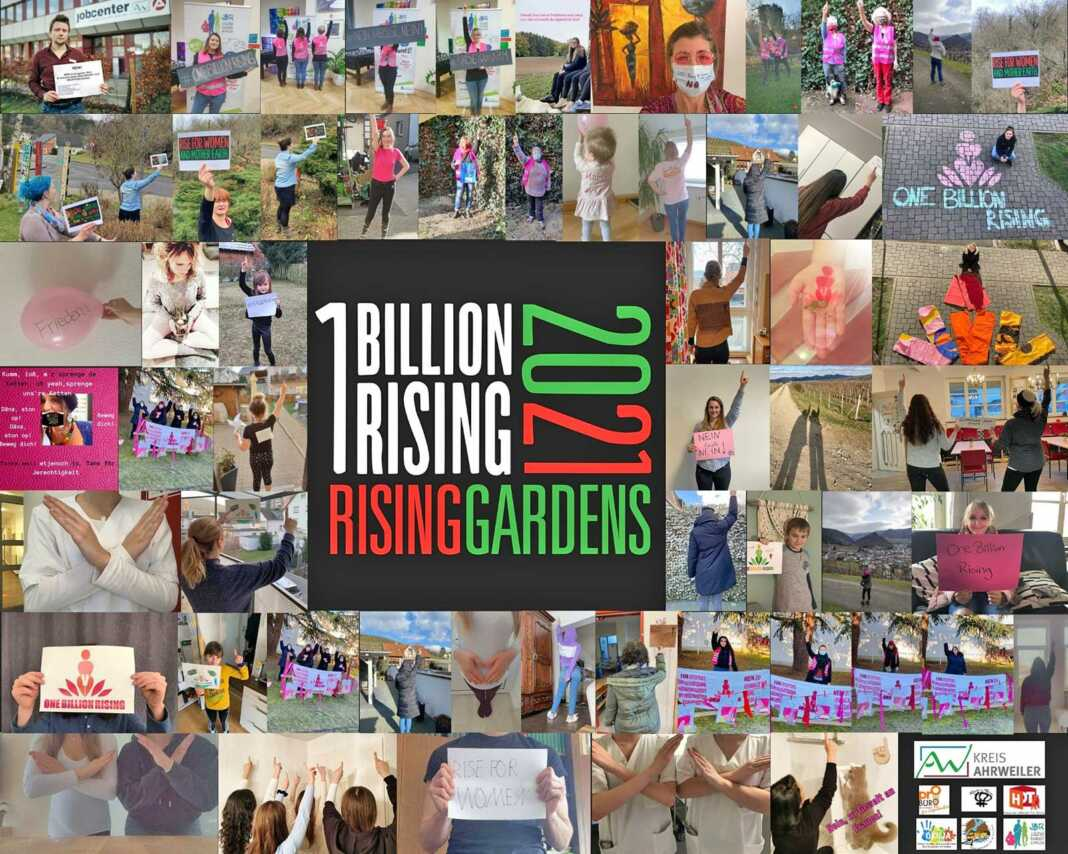 "Onlineaktion ""One Billion Rising"" gegen Gewalt gegen Frauen"