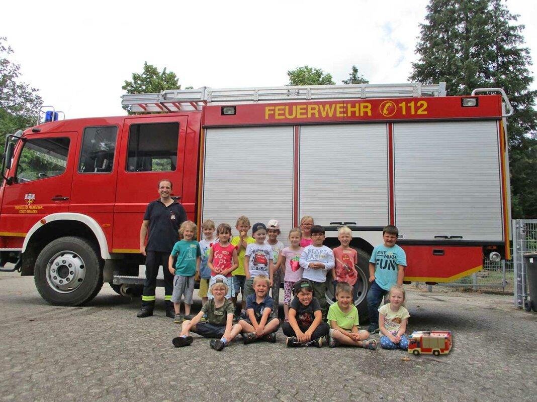 Feuerwehr und Kinder