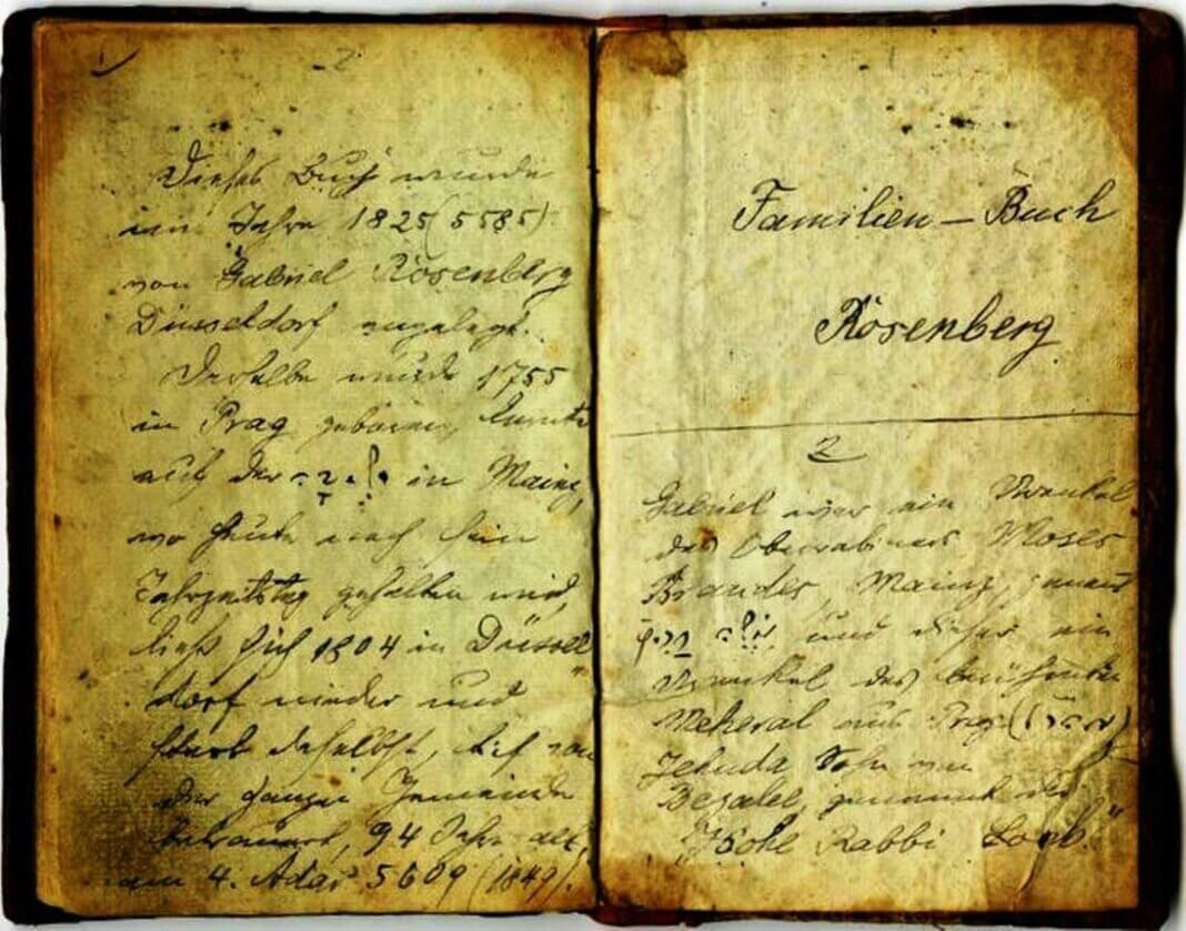 Familienbuch der Rabbinerfamilie Rosenberg, Düsseldorf