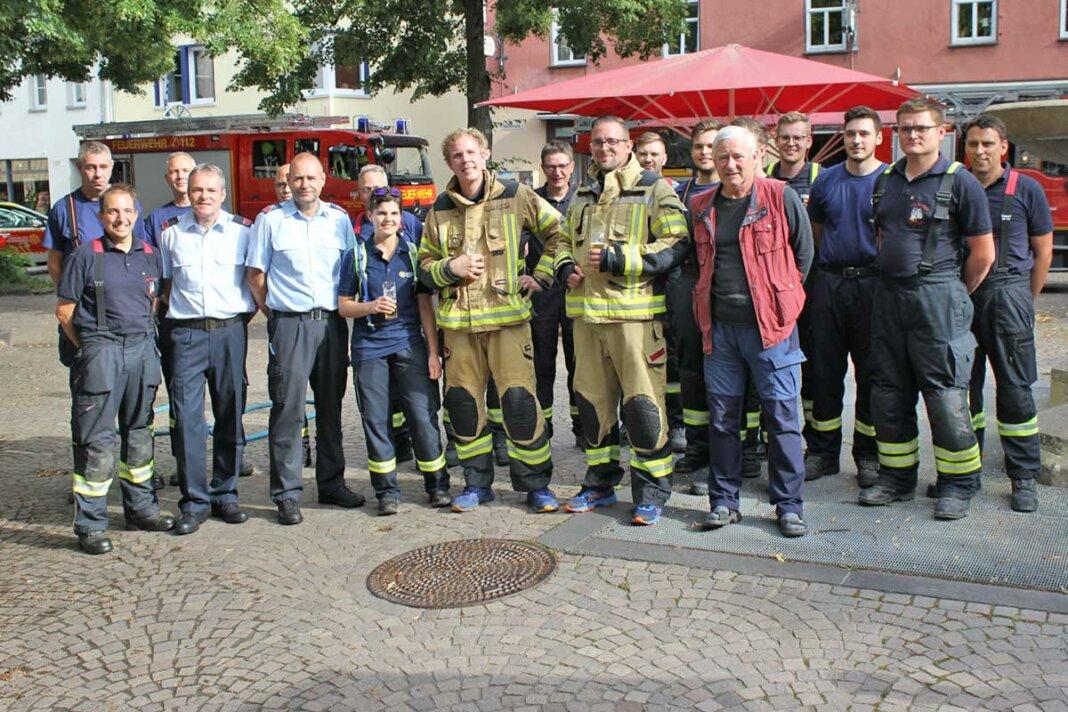Feuerwehr auf dem Markt in Remagen