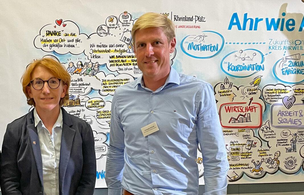Christoph Schmitt und Susanne Müller positive Bilanz der Zukunftskonferenz